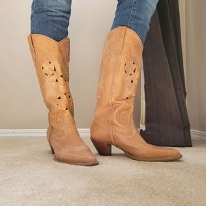 Leather Fashion Cowgirl Boots